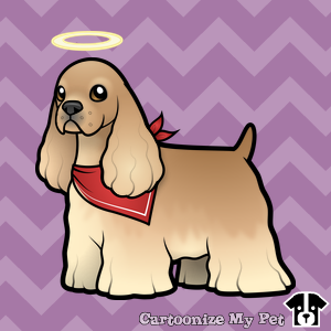 cartoon-buff-american-cocker-spaniel-with-halo
